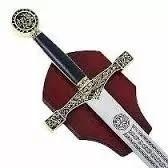 Espada Medieval The King And His Son Com Suporte Parede  - José Geraldo Almeida Marques