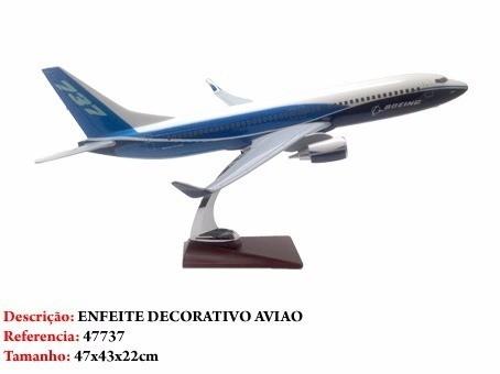 Avião Boeing 737 45x41cm Grande Metal Coleção  - Presente Presente