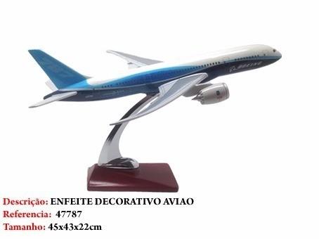 Avião Boeing 787 45x41cm Grande Metal Coleção  - Presente Presente