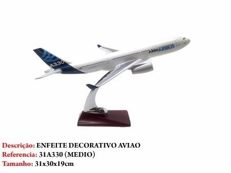 Airbus A330 31x28cm Avião Miniatura  - José Geraldo Almeida Marques