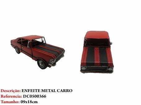 Carro Metal Opala Decoração Carrinho Vermelho Vintage  - PRESENTEPRESENTE