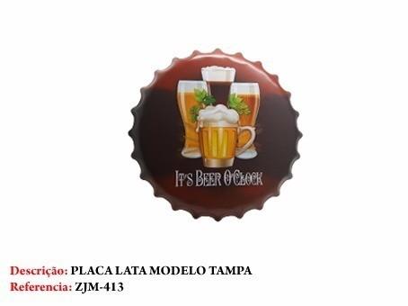 Placa Metal Cerveja Copo De Chop Decoração Coleção  - José Geraldo Almeida Marques