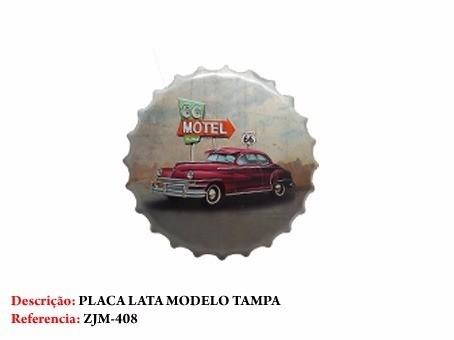 Placa Metal Carro Vintage Motor Cadillac Decoração Coleção  - José Geraldo Almeida Marques