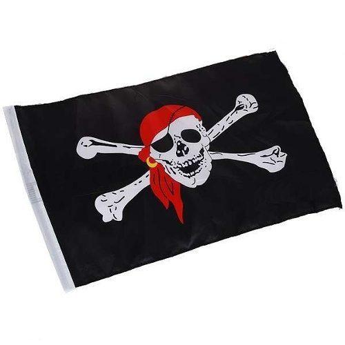 5 Peças Bandeira Pirata Jolly Roger 90x60cm  - José Geraldo Almeida Marques