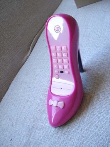 Telefone Sapato Salto Alto Pink Com Rosa Com Fio  - PRESENTEPRESENTE