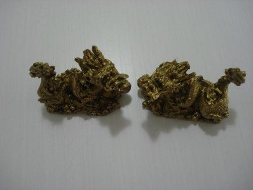 Par Dragão Chinês Mandarim Em Resina Pequeno  - PRESENTEPRESENTE