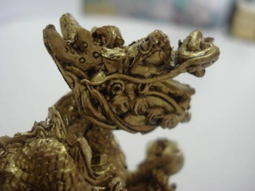 Par Dragão Chinês Mandarim Em Resina Pequeno  - José Geraldo Almeida Marques