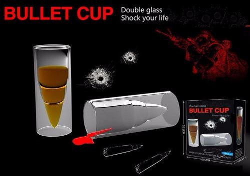 Bullet Cup Copo De Shot Para Dinks Bala Munição Vidro Duplo  - PRESENTEPRESENTE