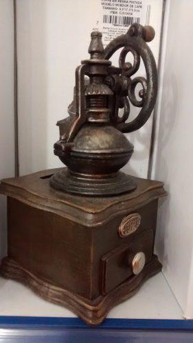 Cofre Resina Moedor De Café Miniatura Vintage Retro  - PRESENTEPRESENTE
