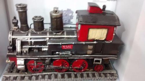 Cofre Resina Locomotiva Trem Miniatura Vintage Retro  - PRESENTEPRESENTE