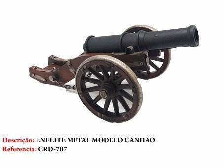 Mini Canhão Metal Enfeite Decoração Coleção  - PRESENTEPRESENTE
