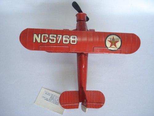 Avião Miniatura Metal Texaco Vermelho  - José Geraldo Almeida Marques