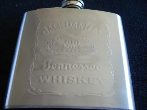Garrafa De Bolso Jack Daniels Inox 147ml  - Presente Presente