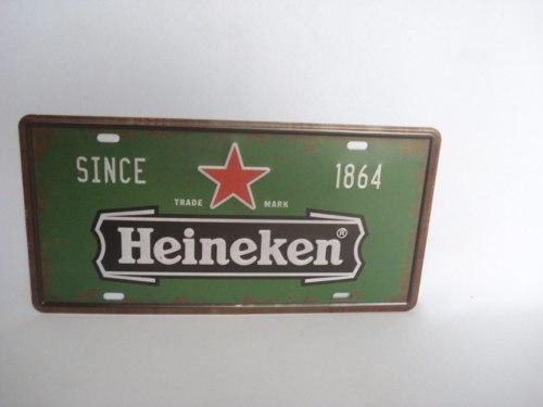 Placa Metal Vintage 30x17 Heineken Decoração Coleção  - José Geraldo Almeida Marques