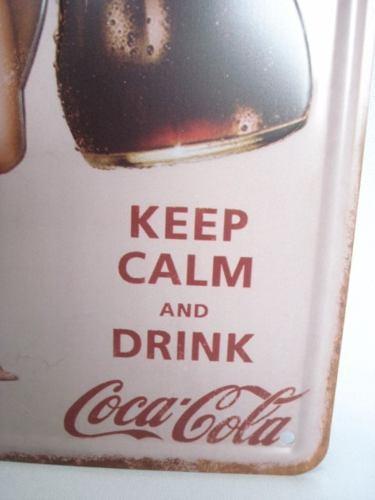 Placa Metal Vintage 30x17 Coca Cola Coke Decoração Coleção  - Presente Presente