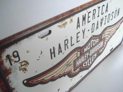 Placa Metal 30x17 Harley Davidson Moto Decoração Coleção  - José Geraldo Almeida Marques