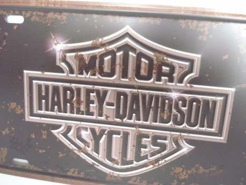 Placa Metal Vintage 30x17 Harley Davidson Decoração Coleção  - PRESENTEPRESENTE