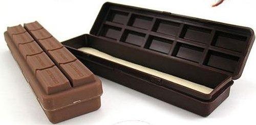 Estojo Barra De Chocolate Ao Leite E Amargo Material Escolar  - José Geraldo Almeida Marques