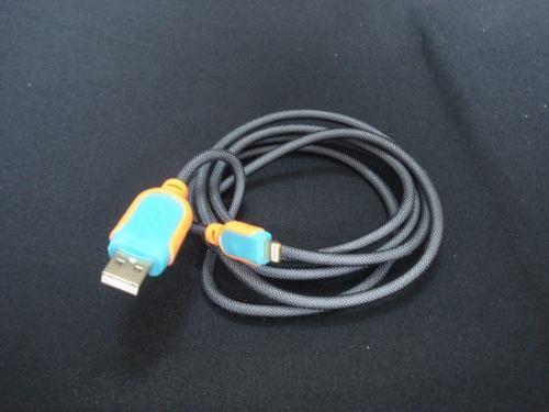 Cabo Usb Fast Charger 1,5m Iphone 5 6 7 Laranja E Azul  - PRESENTEPRESENTE