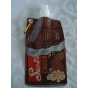 Garrafa De Água Dobrável Chocolate Flexível Reutilizável