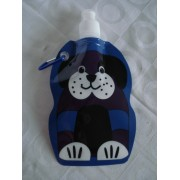 Garrafa De Água Dobrável  cachorro cãozinho Flexível Reutilizável