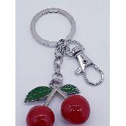 Chaveiro Cereja Resina Cherry Coleção