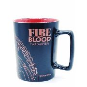 Caneca Game Of Thrones Casa Tagaryen Porcelana Fire N' Blood