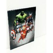 Placa Metal Vingadoes 27x20cm Coleção Quarteto Anúncio com variação