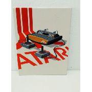 Placa Metal Gamer Atari 27x20cm Coleção Vintage Anúncio com variação