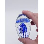 Enfeite Vidro Peso Papel Agua Viva Caravela Azul Mar 6cm 1
