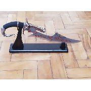 Espada Adaga Punhal Decorativo Dragão Com Suporte De Mesa