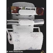 Suporte Porta Rolo Toalha Aluminio Filme Cozinha Papel 3x1
