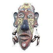 Enfeite Máscara Africana Resina Estátua Decoração A Anúncio com variação