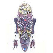 Enfeite Máscara Africana Resina Estátua Decoração F Anúncio com variação