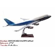 Airbus 747 45x41cm Avião Grande Metal Coleção