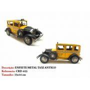 Carrinho Metal Taxi Amarelo Calhambeque Vintage