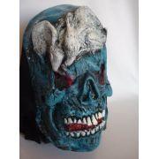 Mascara Fantasma Azul Com Ratos Festa Fantasia 3d