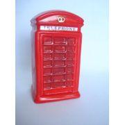 Cofre Resina Cabine Telefone Londrino Cofrinho Londres Mod 3