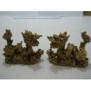 Par Dragão Chinês Mandarim Em Resina Pequeno