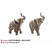 Enfeite Resina Elefante 15cm Decoração 51q5-e