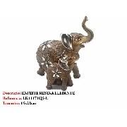 Enfeite Resina Elefante Casal 22cm Decoração 71q5-e Flores
