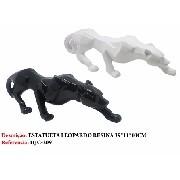 Estatua Miniatura Leopardo Resina 39cm