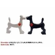 Estatua Miniatura Casal Cachorros 20cm Love Dog