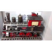 Cofre Resina Locomotiva Trem Miniatura Vintage Retro