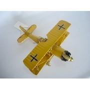 Avião Batalha Amarelo Miniatura Metal