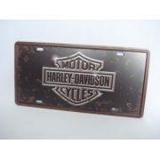 Placa Metal Vintage 30x17 Harley Davidson Decoração Coleção