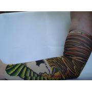 Manga Tatuagem Aguia Tatuada Spandex 074 Elastano