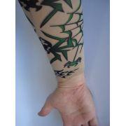 Manga Tatuada Braço Caveira E Aranha Tatuagem Spandex