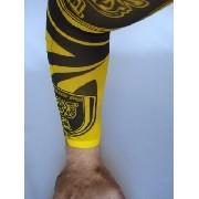 Manga Tatuada Braço Yellow Style Tatuagem Spandex