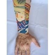 Manga Tatuada Dragão Tatuagem Tatoo Spandex 053